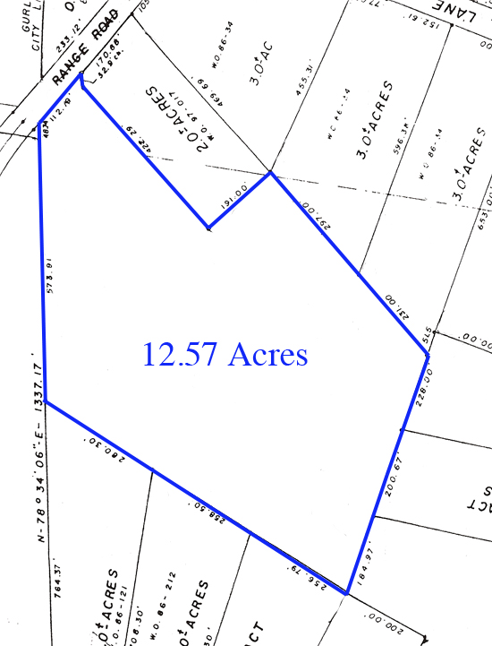 Survey of 12.57 Acres of Land on Keel Mountain