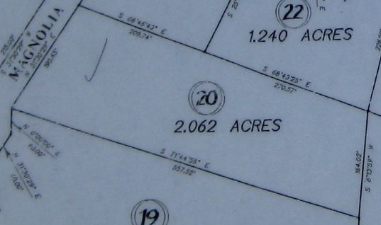 Survey of Grimsley Hills Tract 20 Land