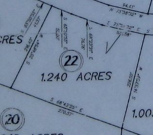 Survey of Grimsley Hills Tract 22 Land