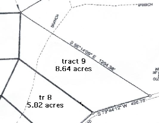 Survey of Kentucky Land for Sale - Chestnut Way Tract 9 - Owner Financed Land