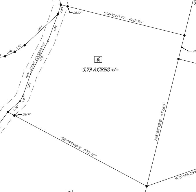 Survey of East Tennessee Land for Sale - Apple Valley Tract 6 - Owner Financed Land