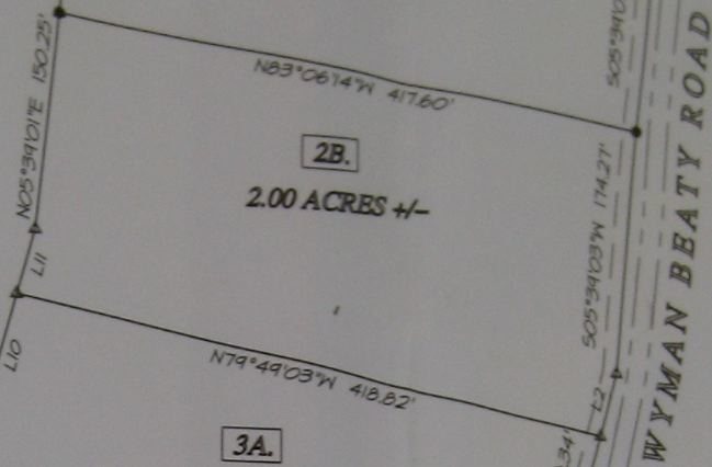 Survey of Grimsley Hills Tract 2B Land